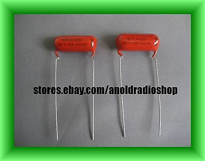 pair 1962 NOS Sprague .05 uF 600V 6PS-S50 10% orange drop guitar Tone Capacitors