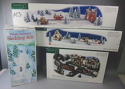 Department 56 Trains:Lego Warehouse Forklift,Leading the Sleigh,Village Express+