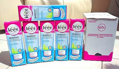 6 x 100ml Veet BodyCurv (Bikini & Underarm Hair Removal Cream) - SEE DESCRIPTION
