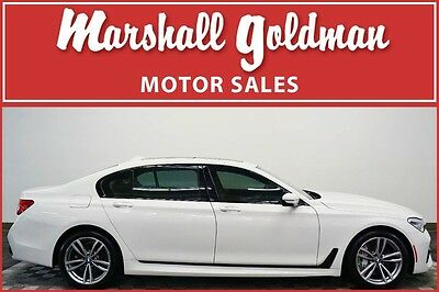 2016 BMW 7-Series Base Sedan 4-Door 2016 BMW 750i X drive White/tan  M sport package only 13700 miles