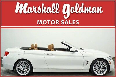 2015 BMW 4-Series Base Convertible 2-Door 2015 BMW 435i Convertible Alpine White with Saddle only 10,909 miles