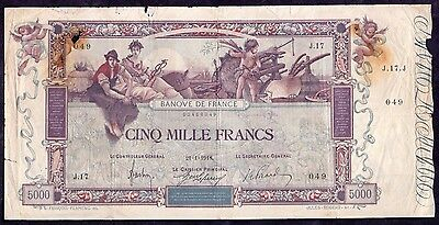 5000 Francs From France Flameng 1918