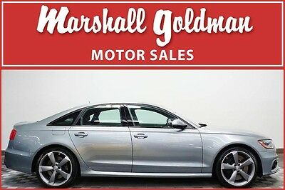 2015 Audi S6 Base Sedan 4-Door 2015 Audi S6 Quartz Grey with Black 420HP and only 10,100 miles