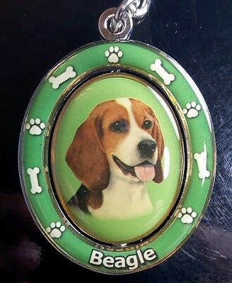 New BEAGLE Spinning Keychain Dog Pet Gift Key Chain