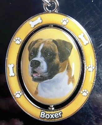 New BOXER Spinning Keychain Dog Pet Gift Key Chain