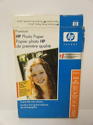 HP Premium Photo Paper Inkjet Glossy 4x6 60 Sheets New in Sealed Package