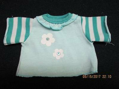 Turquise Cotton Knit Top Fits Most WEBKINZ pet dog cat CLOTHING M-39