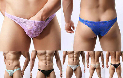Wholesale 50Pcs Men's thongs G-String PANTIES Pants Size M/L/XL Mix-colors #110