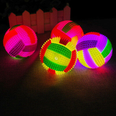Soft Bouncing Volleyball Football LED Flashing Light Vocal Ball Toys Kid Child
