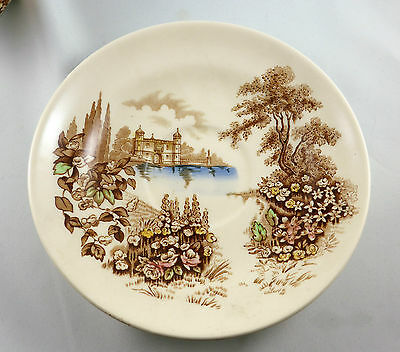 Johnson Bros CASTLE ON THE LAKE Large Tea Cup & Saucer