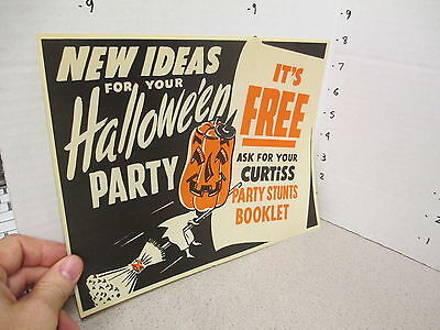 Curtiss candy bar 1950s halloween witch pumpkin premium comic book store display