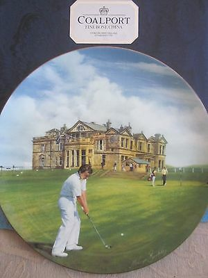 COALPORT china GOLFING CLASSICS - ST. ANDREWS collectable 27.5cm DISPLAY PLATE