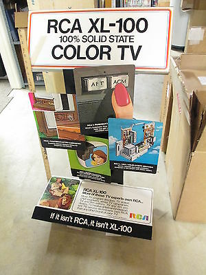 RCA solid state color TV XL-100 motor store display 3 feet kit 1970s (20+ items)
