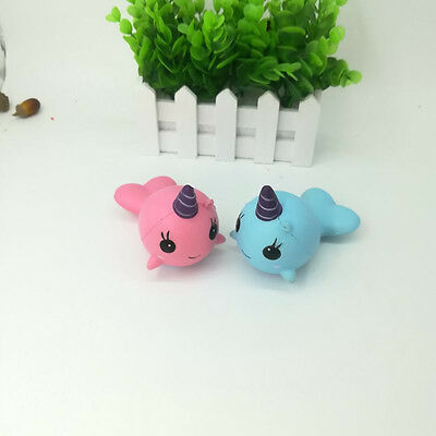Unisex Slow Rising Collect Whale Squishy Cartoon Ballchains Soft Toy Straps Gift