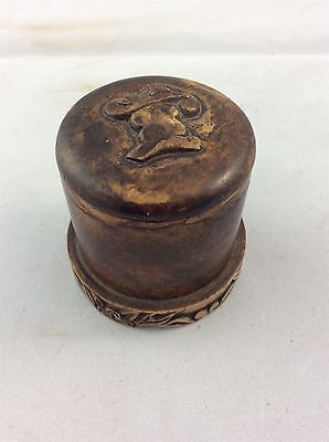 Oriental Design Soapstone Ink Well / Pot with Lid ?