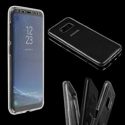 For Samsung Galaxy S8/S8 Plus 360 Clear TPU Full Body Cover Case Silicone Soft