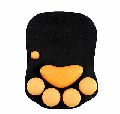 """TRIXES Big Cat Paw Mousepad Mouse Mat with Gel Wrist Rest Support 10.5"""" x 7"""""""
