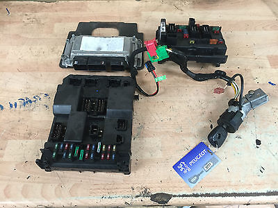 2003 Peugeot 307 1.6 16V Bosch Ecu Kit Bsi Bsm Units 0261206943 9647480580