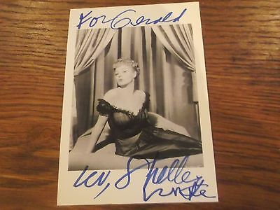 Hand Signed Shelley Winters Photo With Dedication -  Autograph