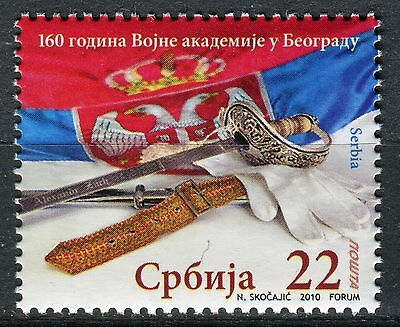 0302 SERBIA 2010 - Science -The Military Academy - Flags - MNH Set