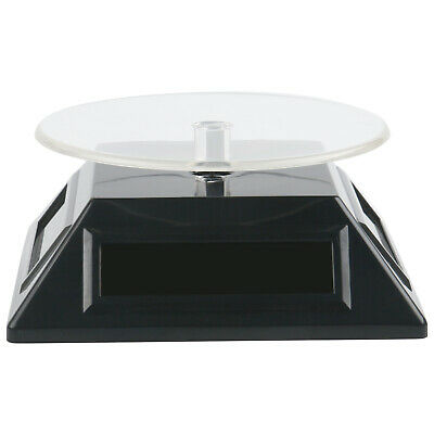TRIXES Black Solar/Battery Powered Rotating Stand Product Display Art Jewellery