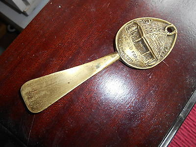 Vintage Antique Elpec Brass The Old Forge Cockington Souvenir Shoe Horn