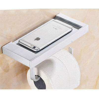 Bathroom Accessory Rack Toilet Paper Holder Mobile Phone Holder Aluminum Rack