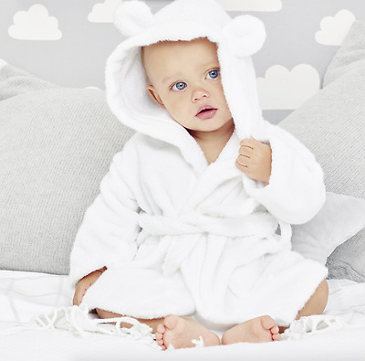 The Little White Company Hydrocotton Baby Robe - White £28. 0-6 Months