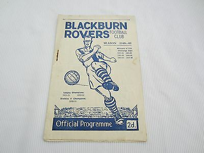 1948-49 BLACKBURN ROVERS v BARNSLEY