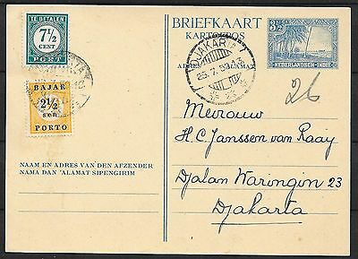Netherlands Indies covers 1950 local mixed DUE PC Djakarta