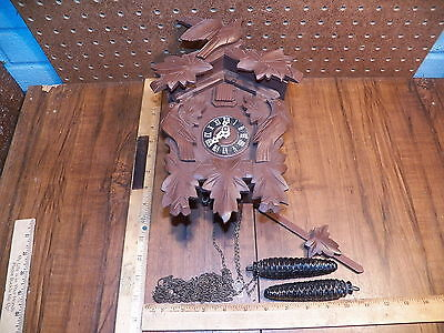 Vintage Black Forest Cuckoo Clock - Made In Germany
