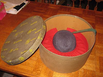 Vintage Marshall Field's Hat Box & Hat 1940's?1950's?