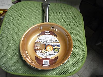 New ! Ceramic Copper Pro Pan 8 inch Fry Pan Copper + Titanium Infused Cookware