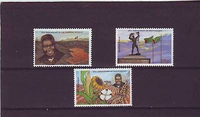 a128 - ZAMBIA - SG417-419 MNH 1984 20th ANNIV INDEPENDENCE