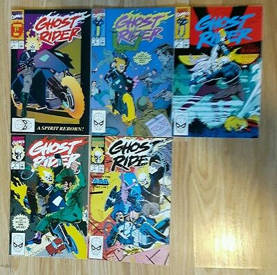 Marvel GHOST RIDER 1,2,3,4,5,RUN,Vol.2,MAY1990 1ST ISSUE,LIFE'S BLOOD,9.9GRADES