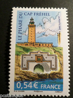 FRANCE, 2007, timbre 4112, PHARE DU CAP FREHEL, LIGHTHOUSE, neuf** MNH STAMP