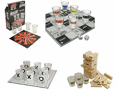 4 X Adult Party Drinking Games Snakes & Bladdered Tipple Jenga Tower Sip & Strip