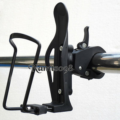 Bottle Cage Holder Attachment Frame Bar Clamp Mount/Strollers Bicycle Wheelchair