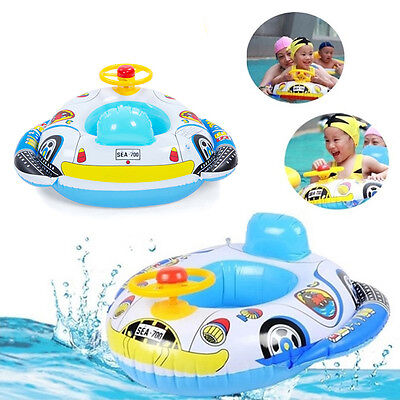 HOT Newborn Baby Infant Child Swimming Neck Float Inflatable Ring Safety DI  O