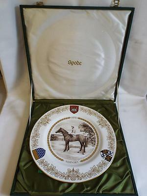 Limited Edition Spode 1970 St. Leger Nijinsky plate in box with COA