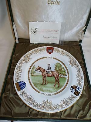 Limited Edition Spode 1972 St. Leger Boucher plate in box with COA