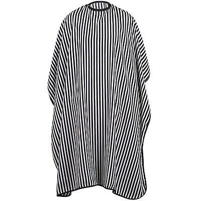 TRIXES Full Length Black White Hairdressers Gown Adjustable Size