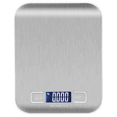 High Precision Blue Digital Electronic Touch Kitchen Scales Slim Design  - By T