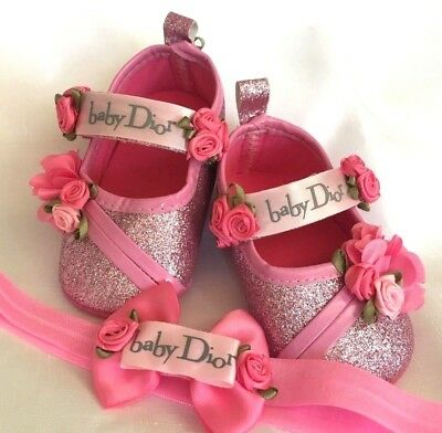 Glitter Pink Baby Shoes
