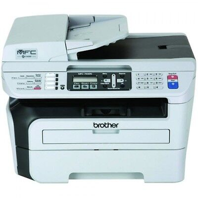 Brother MFC-7440N Compact Laser All-in-One Printer Copier Scanner Fax W/Toner