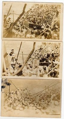 CHINA US Navy Shanghai Shipping  6 Vintage Real Photo Postcards Neptune Party