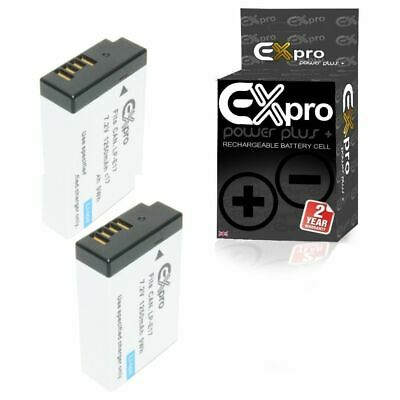 Ex-Pro LP-E17 1250mAh Digital Camera Battery x2 PART DECODED for Canon EOS 750D