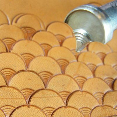 James Linnell - Large Ringed Shell Geometric Stamp (Leather Stamping Tool)