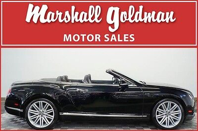 2014 Bentley Continental Flying Spur GTC Speed Convertible 2-Door 2014 Bentley Continental GTC Speed Beluga Beluga diamond quilted 15,700 miles