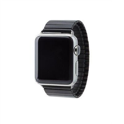 Rilee And Lo BLACK BAND 42MM APPLE WATCH M/L STAINLESS STEEL STRETCH 24MM